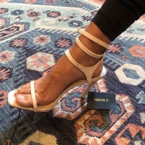 Forever 21 Strappy cream heels